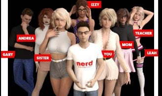Nerd Adventure - Ep. 2 Day 3, Ch 2 v0.2, 0.1 Ch 2, 0.4, BETA Day 3 18+ Adult game cover