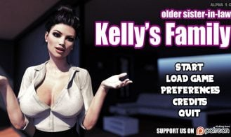 Kelly's Family: Older sister in law - 2.0 Alpha 18+ Adult game cover