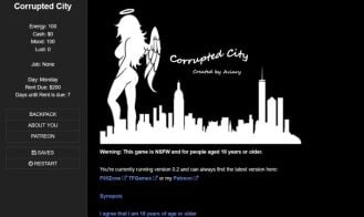 Corrupted City - 0.16a Bugfix, 0.15c Bugfix, 0.14b, 0.13e, 0.13, 0.10f, 0.9a, 0.7a, 0.5, 0.4c, 0.3b, 0.2a 18+ Adult game cover